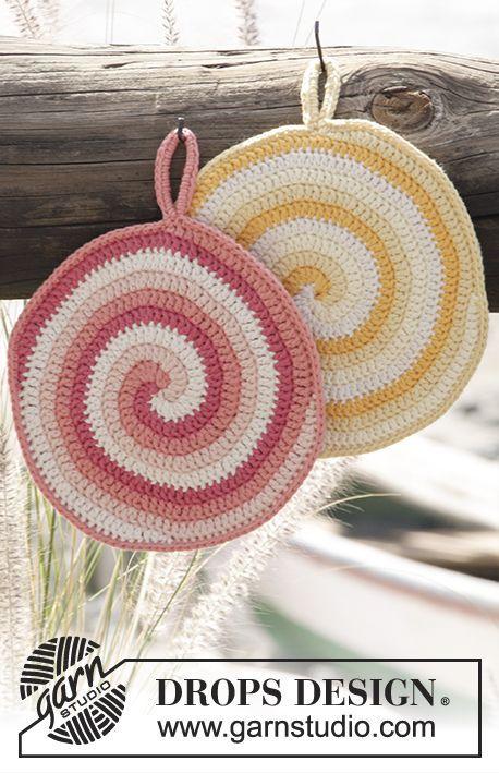 Manique Spirale Rayée Drops Au Crochet En Paris Modèle Gratuit De