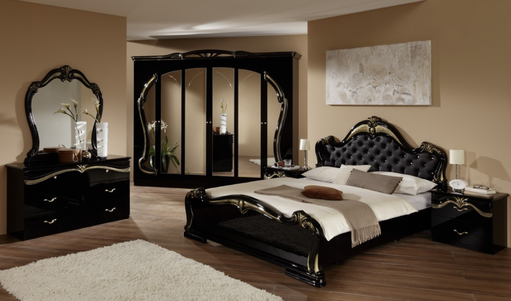 italian furniture bedroom set. New Italian Bedroom Sets And Furniture In High Gloss Black White. Suites By EM ITALIA - Set I