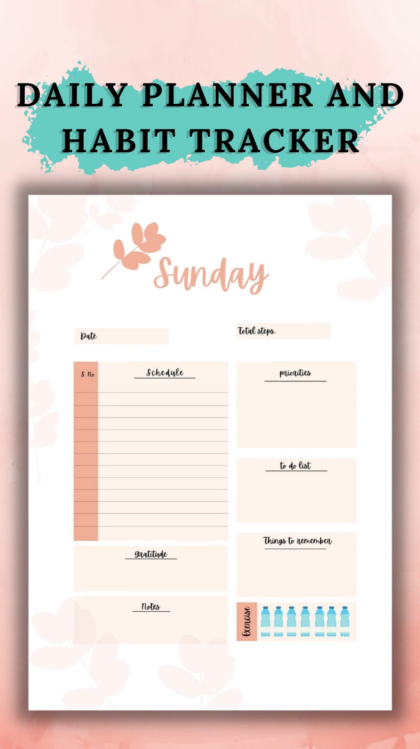 DAILY PLANNER 2021 PRINTABLE