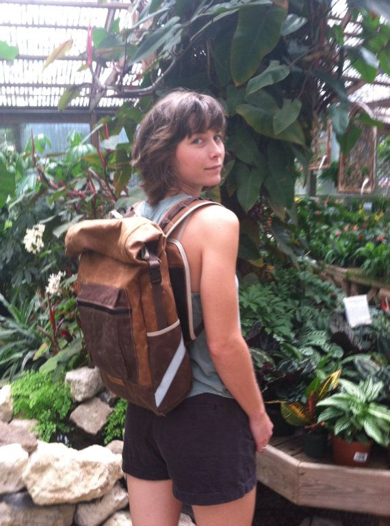 Bicycle Waxed Canvas Conversion Backpack and by anhaicabagworks