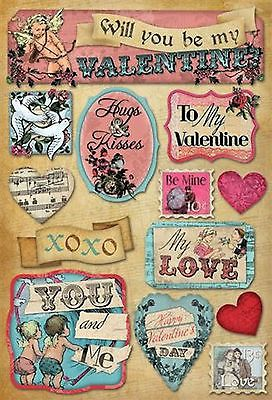 Karen Foster Stickers-MY LOVE scrapbooking VALENTINE CUPID ...