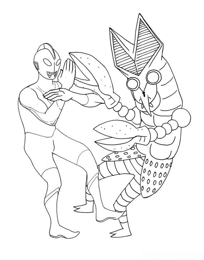 Free Printable Ultraman Coloring Pages Di 2020 Warna Gambar