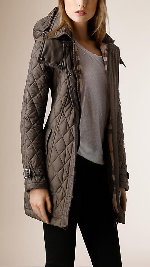 Diamond Quilted Coat Quilted Coat Outfit Quilted Coat Womens Casual Outfits