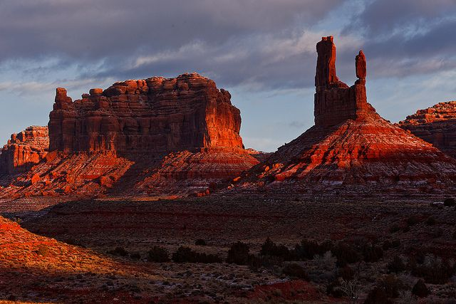Sunrise In Valley of the Gods by pangaearover, via Flickr