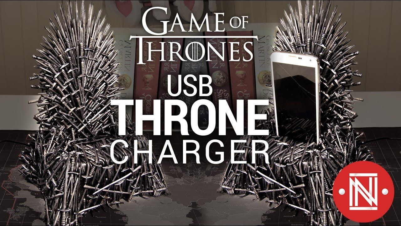 Making A Diy Game Of Thrones Iron Throne Phone Charger Diy