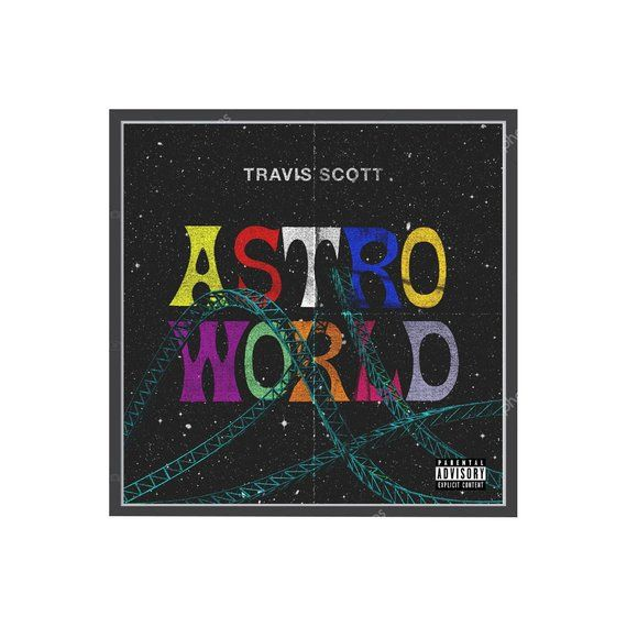 1ca3f9a4eb33 Custom Travis Scott Astroworld Fan Art Poster, Hypebeast Posters, Album  Cover Wall Art, Music Poster