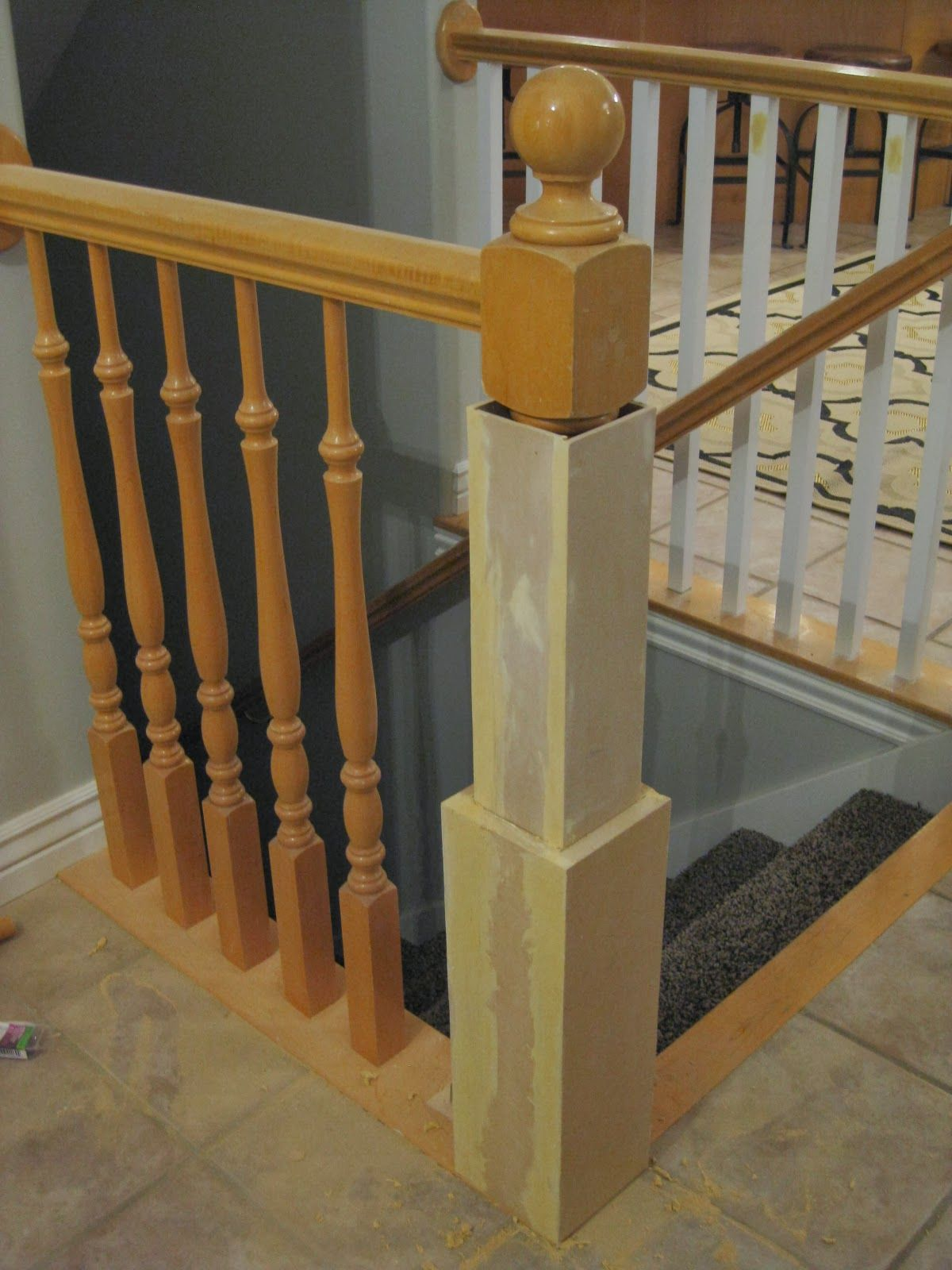 Best Diy Newel Post With Existing Banister Tda Decorating And 640 x 480