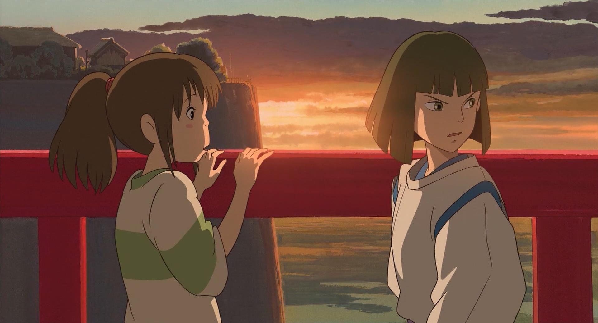 Spirited Away Chihiro and Haku Spirited away, Studio