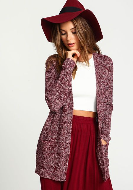 Speckled Chunky Knit CardiganSpeckled Chunky Knit Cardigan ...