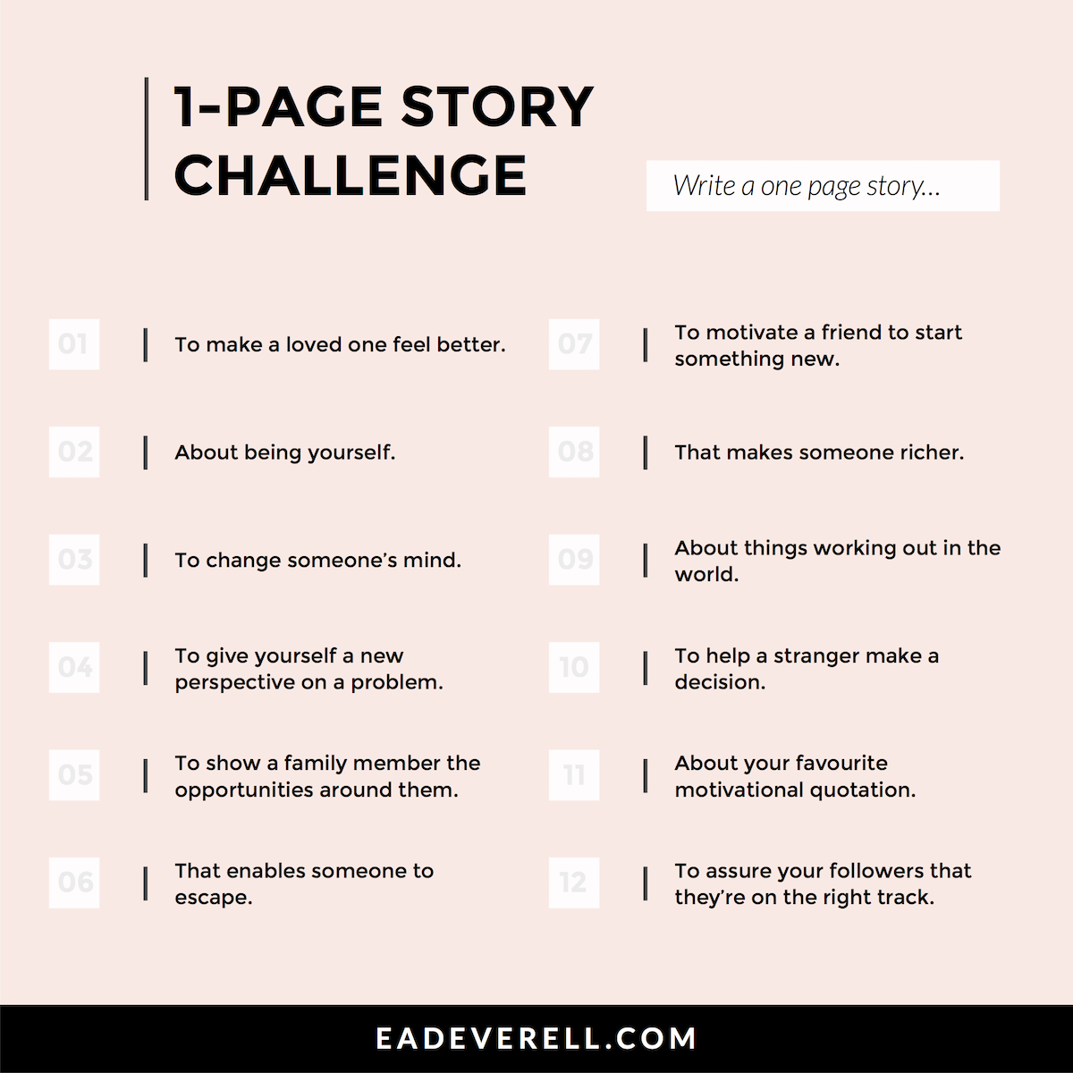 One Page Stories | creative writing blog
