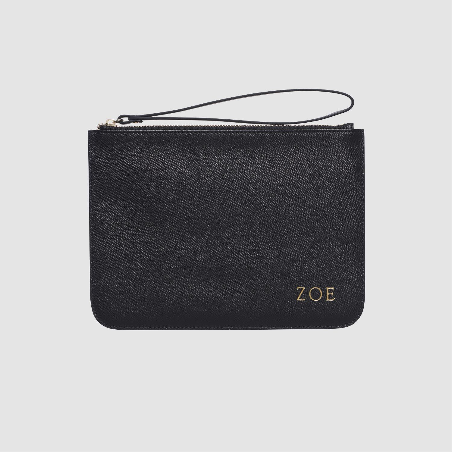 Black pouch with wrist strap wrist strap pouch leather
