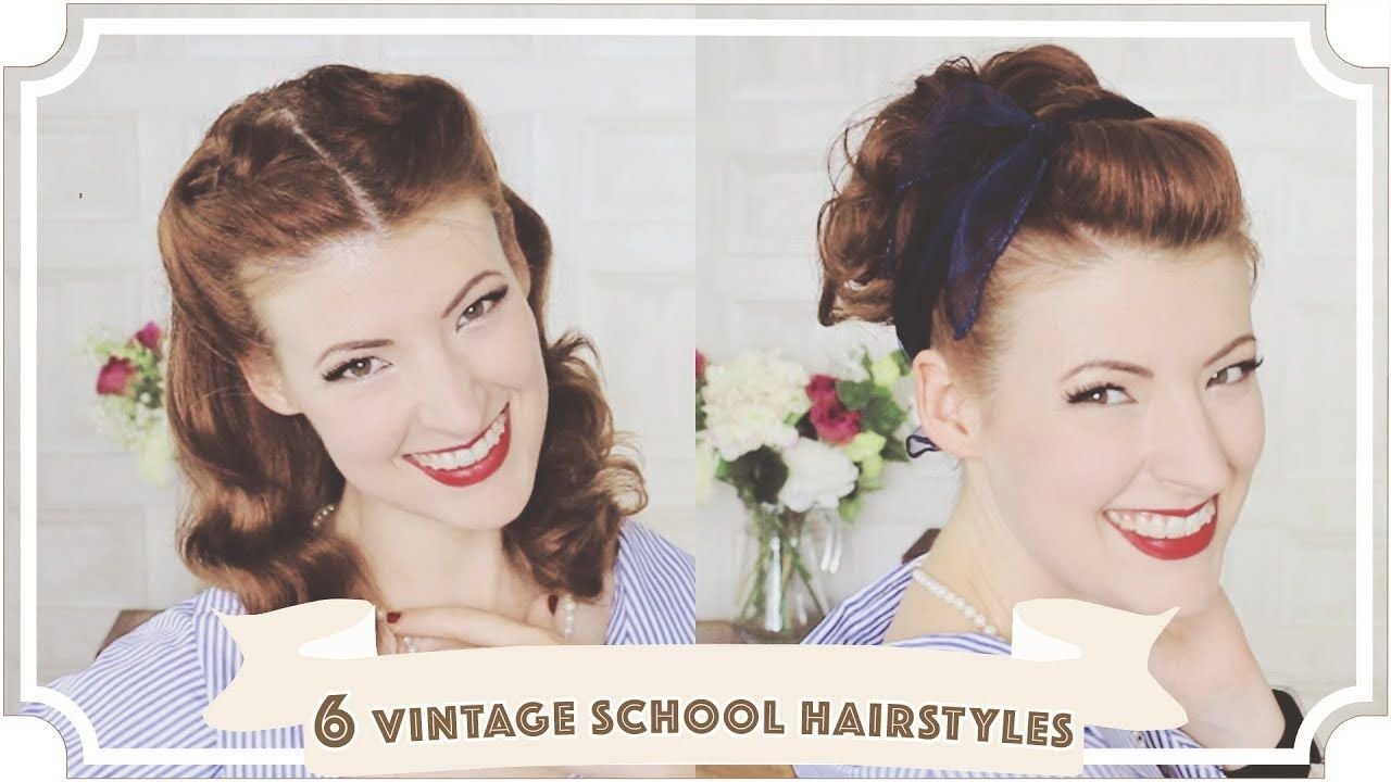 easy vintage back to school hairstyles cc easy vintage
