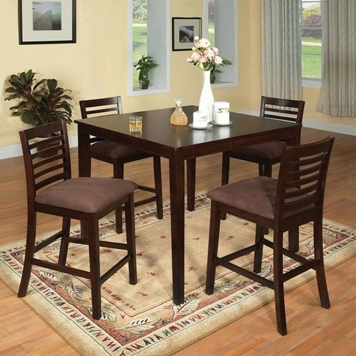 Benzara Eaton II Classy 5 Piece Counter Height Table Set, Espresso (Brown)  | Counter Height Tables | Pinterest | Counter Height Table Sets