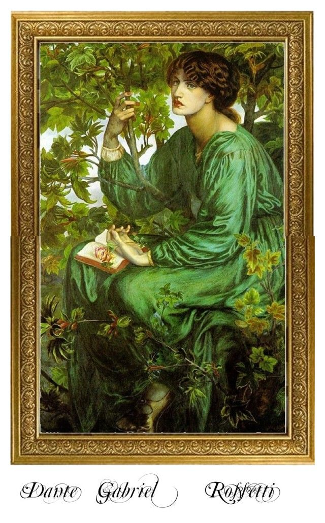 """Dante Gabriel Rossetti"" by marina-zeleznak ❤ liked on Polyvore featuring art"
