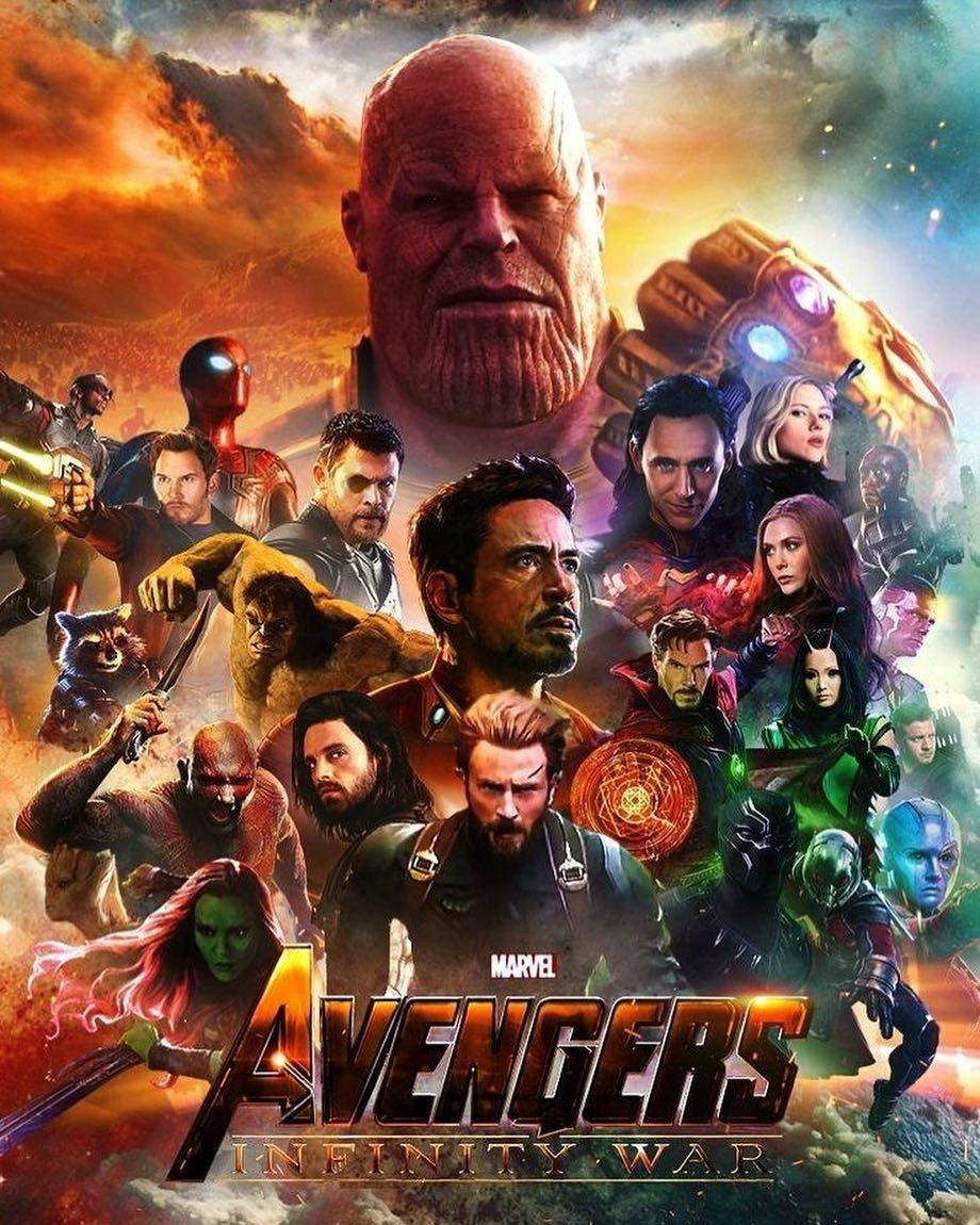 Avengers Infinity War The Mad Titan Thanos Silk Poster 24 X 14 inch