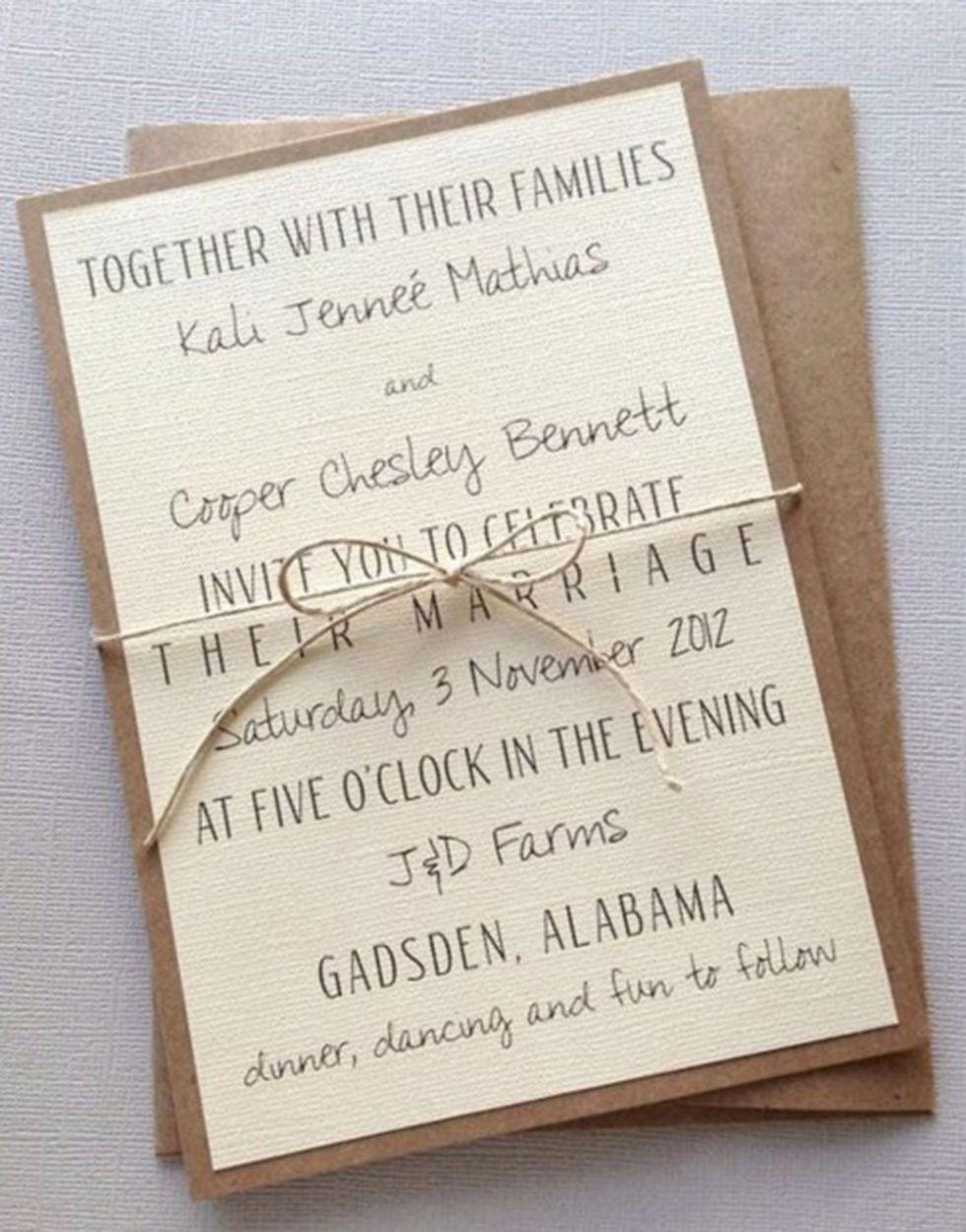 22 adorable and easy DIY wedding invitations