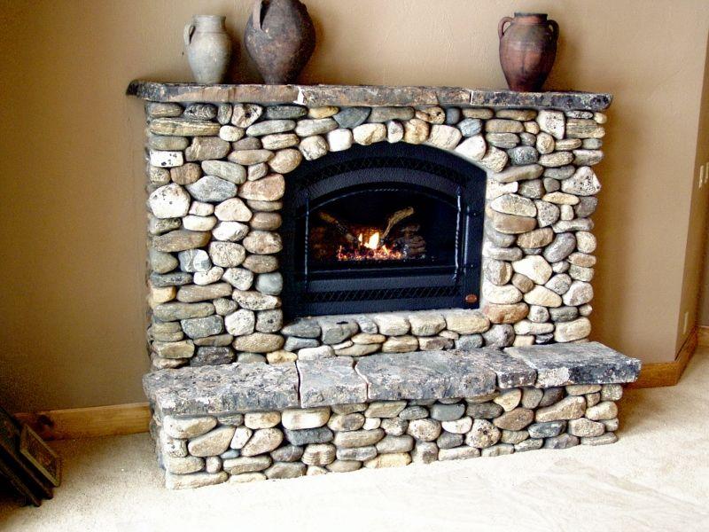 Washington Bar River Rock Fireplace Pinteres
