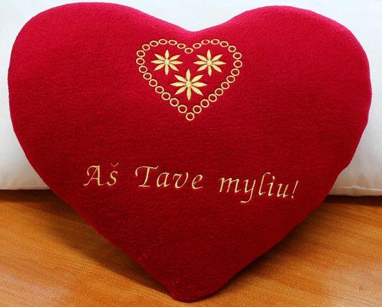 Akcija 25 Lt už širdelės formos pagalvėlę su užrašu u201eAš Tave myliu - gesunde küche zum abnehmen