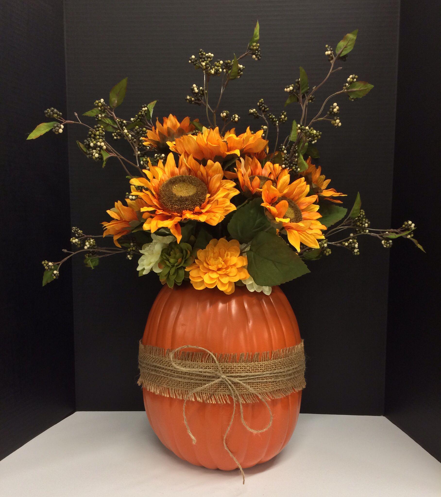 Early Fall 2014 Season Faux Pumpkin Floral Design and