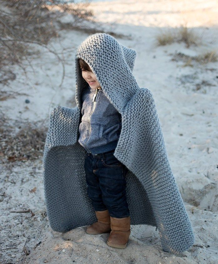 Hooded Baby Blanket Knitting Pattern - Gina Michele | Baby ...