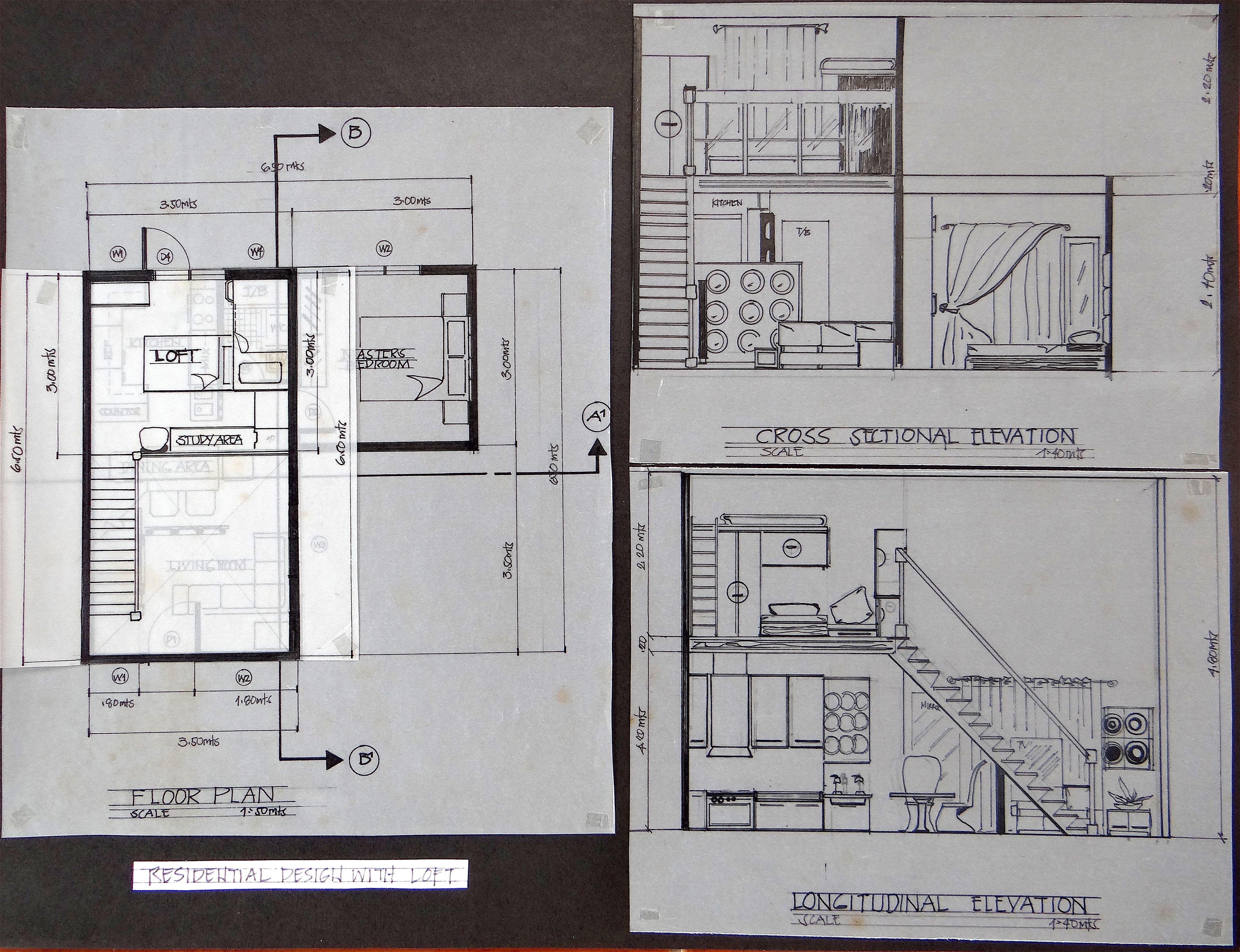 Residential Design With A Loft Residential Design Floor Plans Design