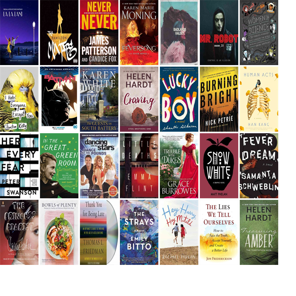 """Wednesday, January 18, 2017: The Greenfield Public Library has eight new bestsellers, three new videos, nine new audiobooks, three new music CDs, 82 new children's books, and 31 other new books.   The new titles this week include """"La La Land: Original Motion Picture Soundtrack,"""" """"The Hamilton Mixtape,"""" and """"Never Never."""""""