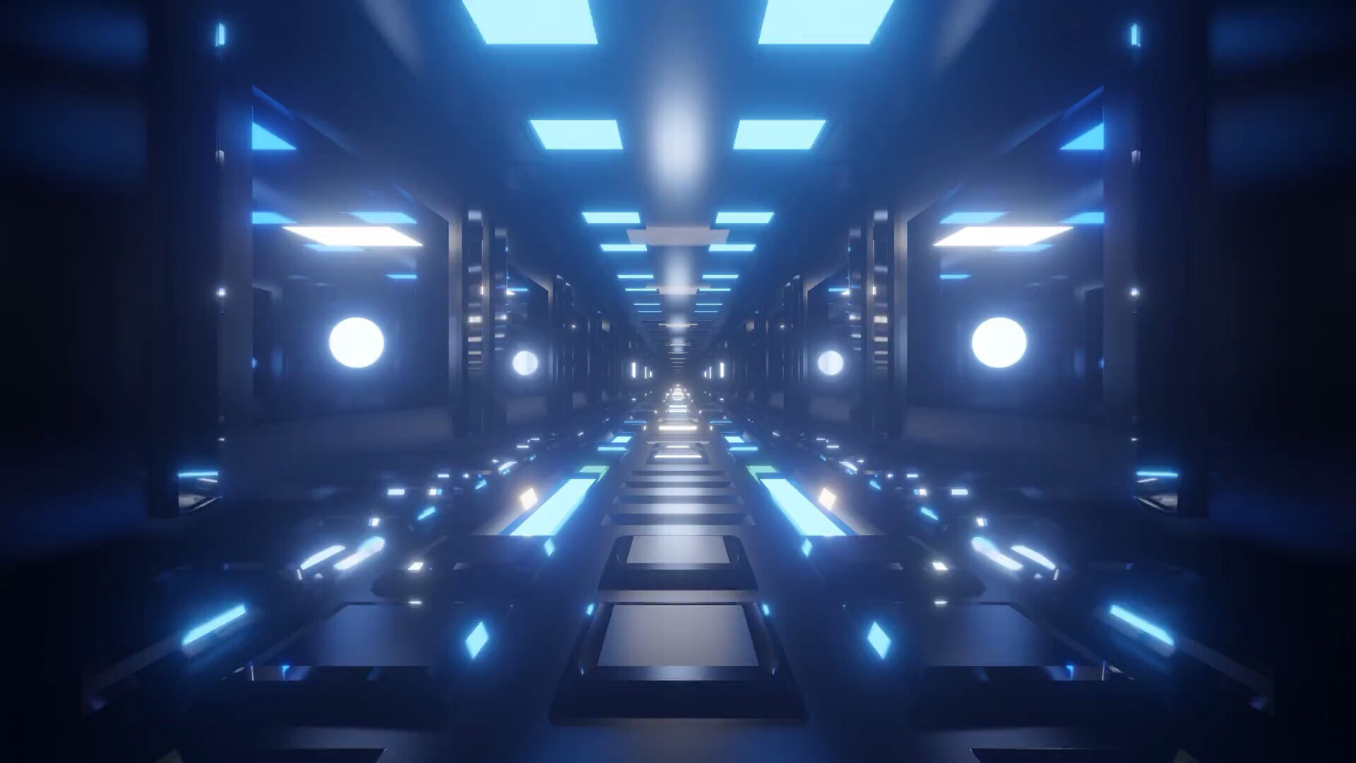 Free K Blue Tunnel Animation Seamless Looping Futuristic Live Wallpaper P Fps