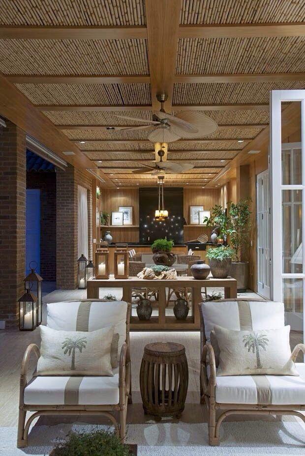 Detalhe ventilador teto teto decorado novos conceitos for Patios decorados