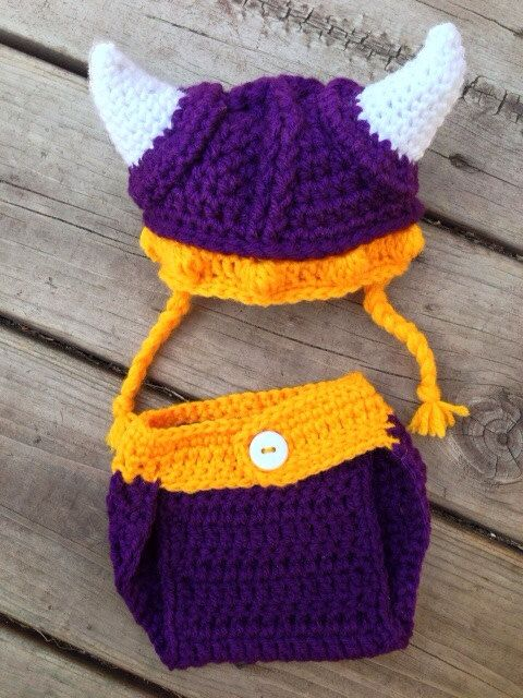 ba97c10e Newborn MN Vikings Hat and Diaper Cover Set on Etsy, $40.00. This is ...