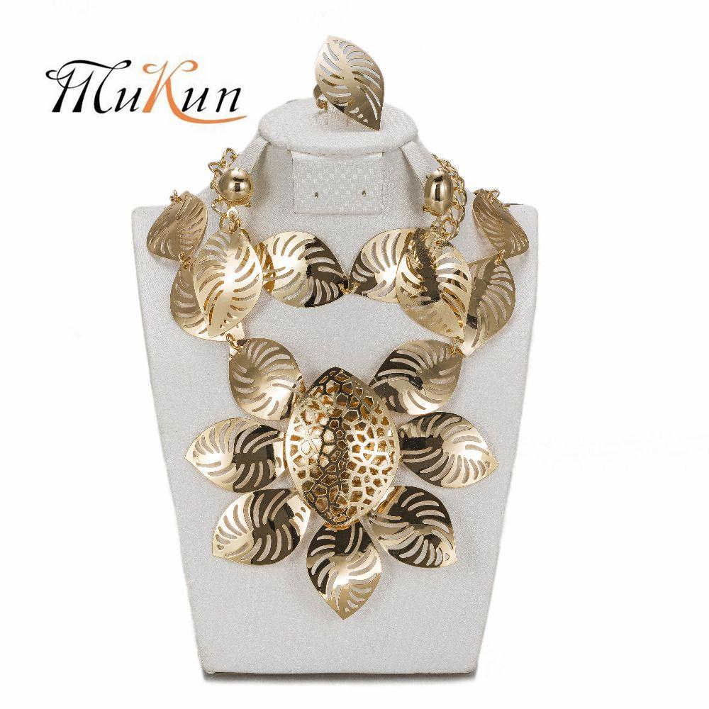 Mukun jewelry sets for women african beads choker charm nigerian