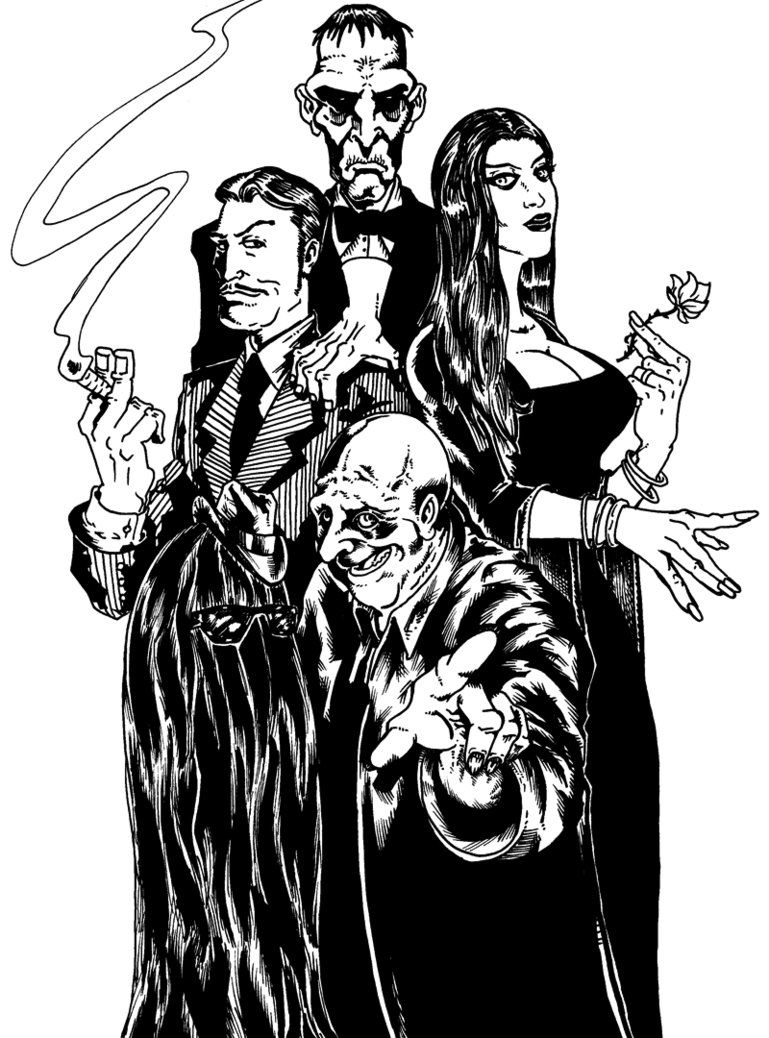 Uncle fester the addams family pinterest - The Addams Family By Eshonborn On Deviantart