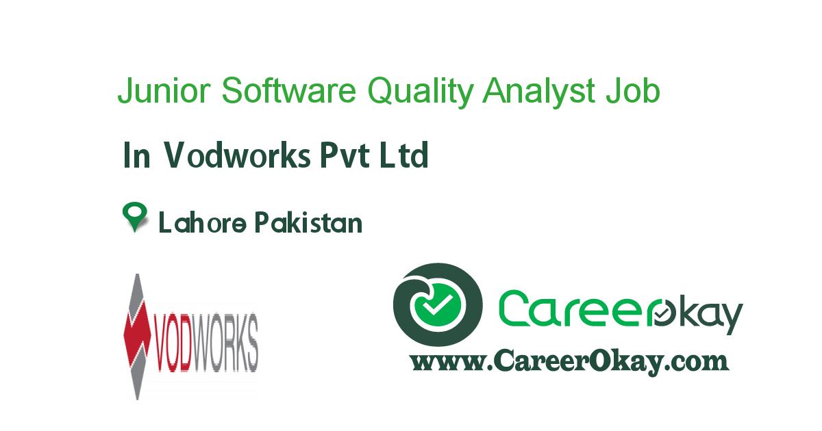 Junior Software Quality Analyst Jobs in pakistan, Job