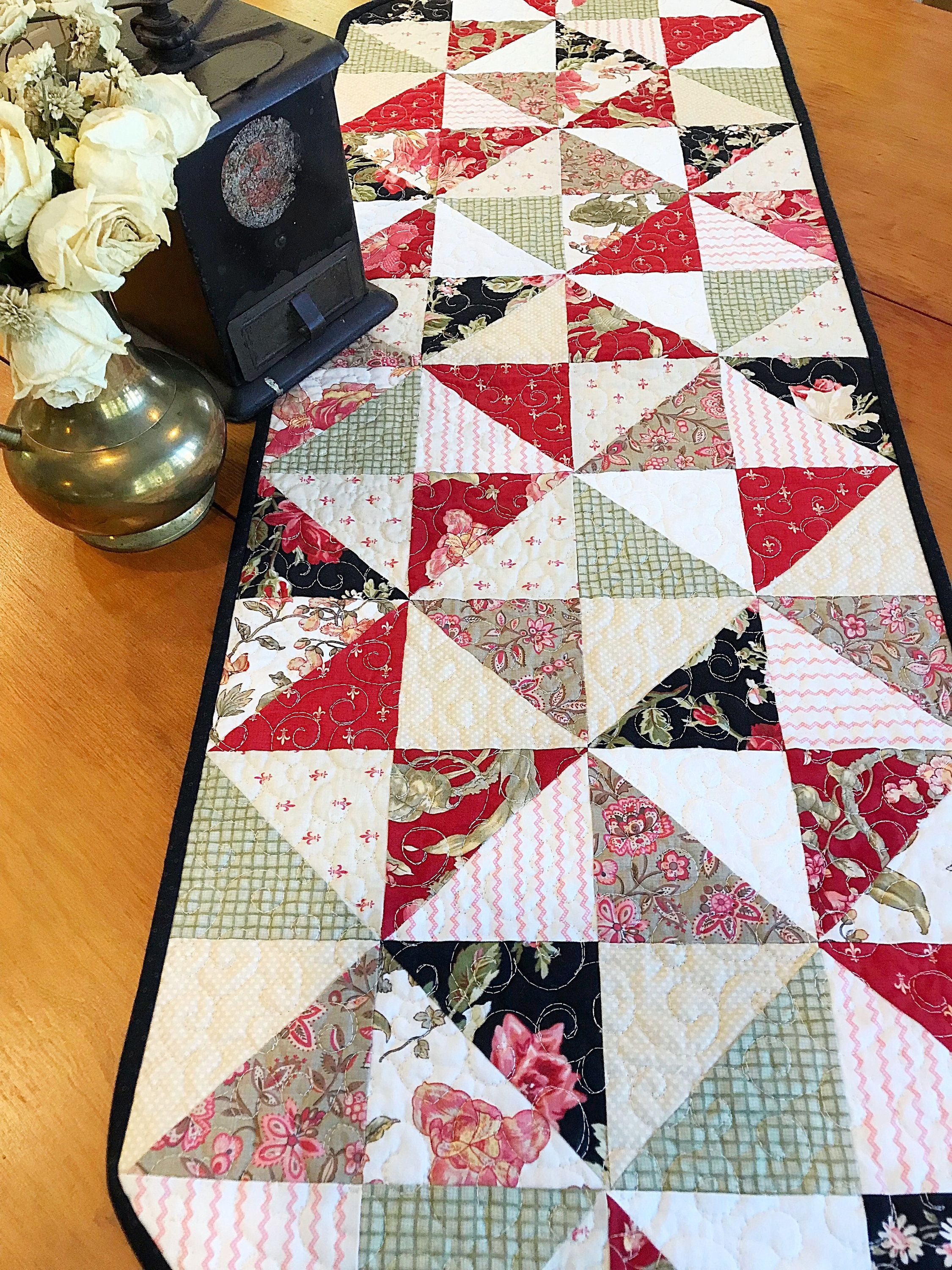 Easy quilt patterns pdf easy table runner pattern charm