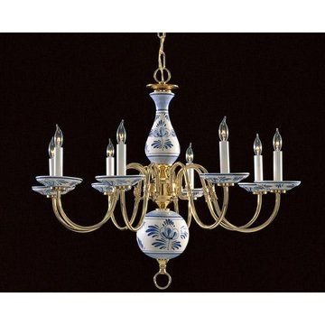 Blue delft chandelier with 6 arms from ebay lighting pinterest blue delft chandelier with 6 arms from ebay mozeypictures Choice Image