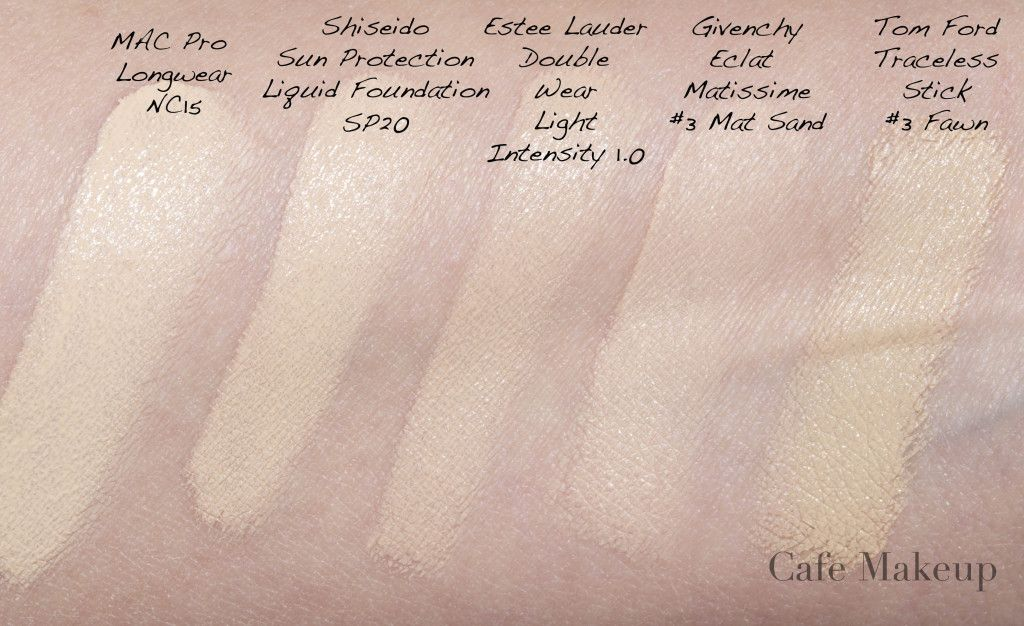 Est 233 E Lauder Double Wear Comparison Makeup Estee