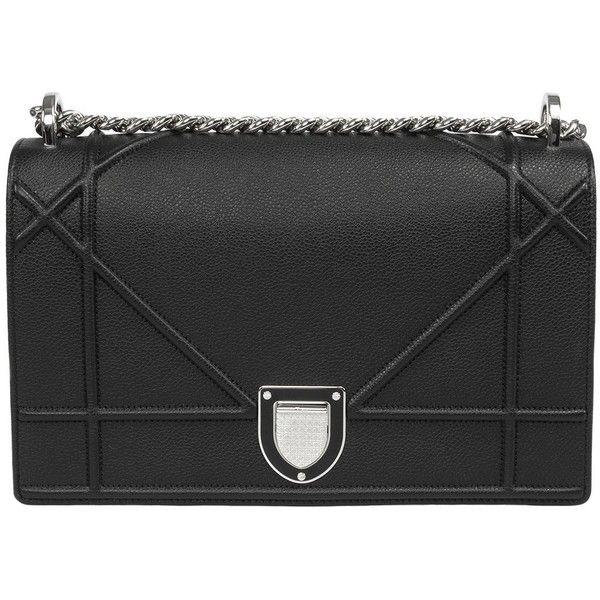 bc5290fd3 Dior Diorama Bag Black Grained Calfskin ($3,300) ❤ liked on Polyvore  featuring bags, Ñ ÑƒÐ¼ÐºÐ¸ and calfskin bag