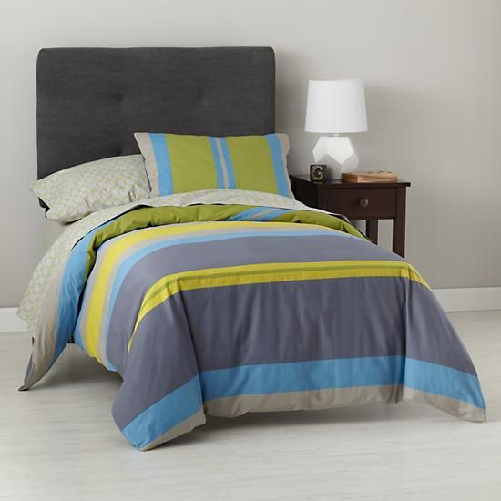 Boys Bedding Bright Colored Striped Bedding Set In Duvet Covers