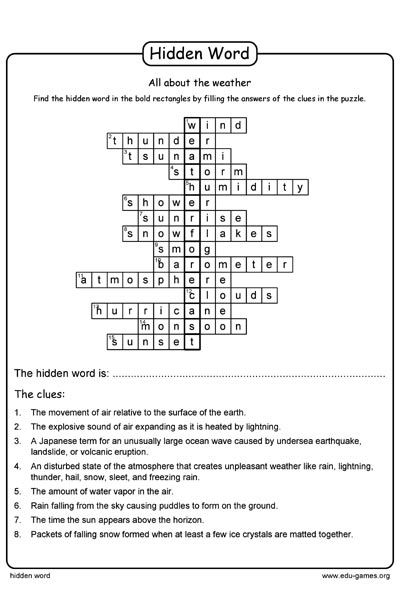 Fill The The Answer Of The Clues In The Puzzle When You Have Write Down All The Answers You Fill Find The Hidden Wor Word Puzzles Puzzle Maker Fill In Puzzles Puzzle time worksheet answers