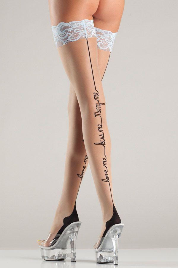 Trashy pantyhose models consider, that