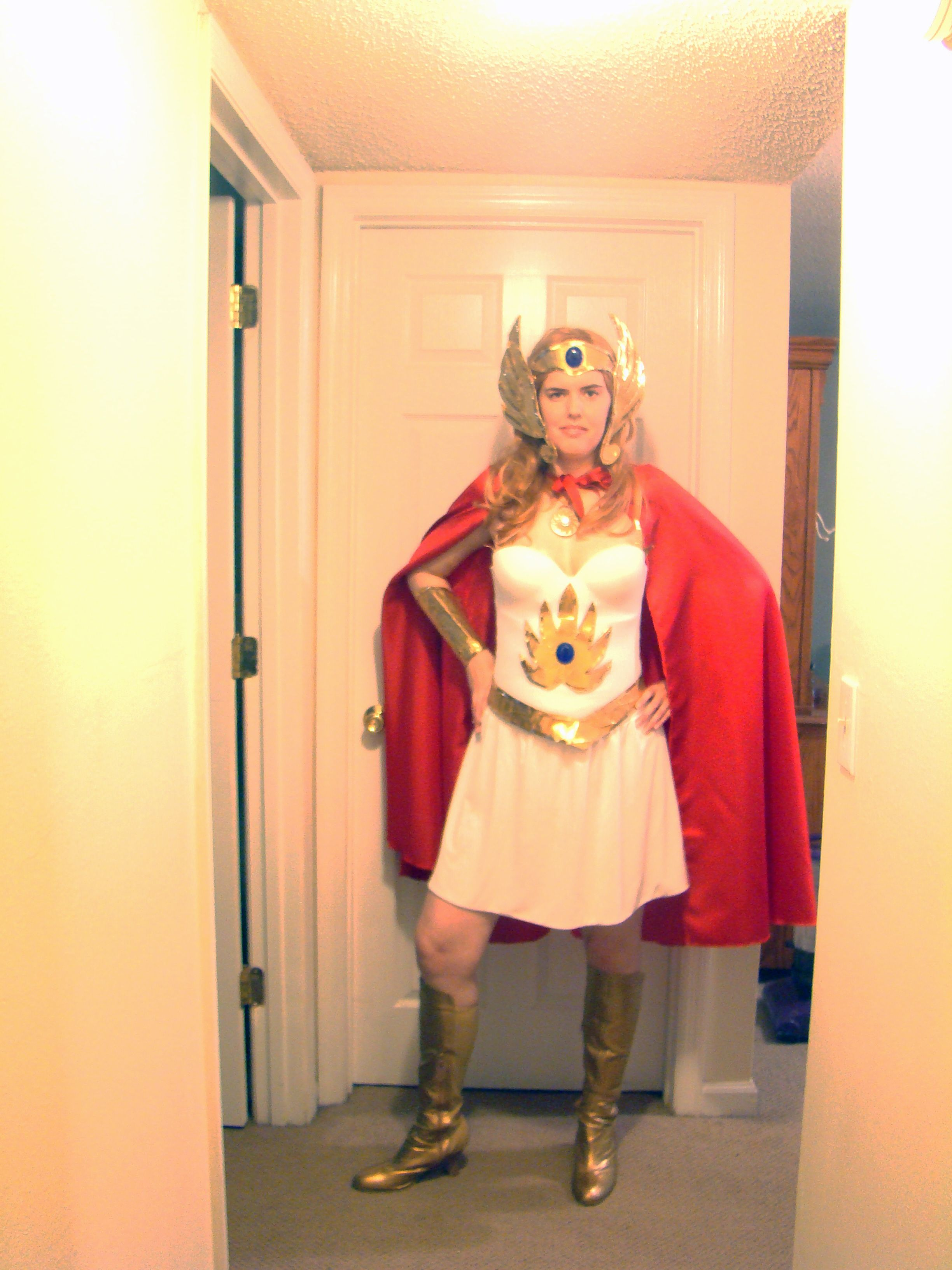 Diy Homemade Duct Tape She Ra Costume I Sewed The Cape