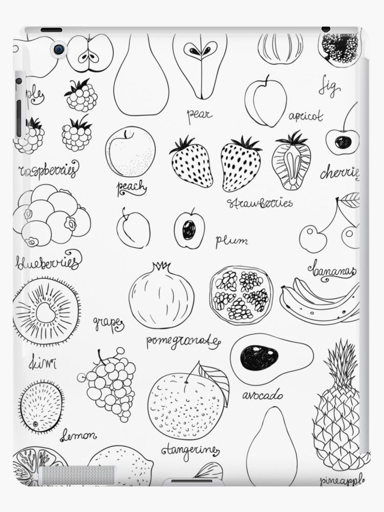 Fruits Ipad Case Skin By Katerina Kirilova Drawings Art