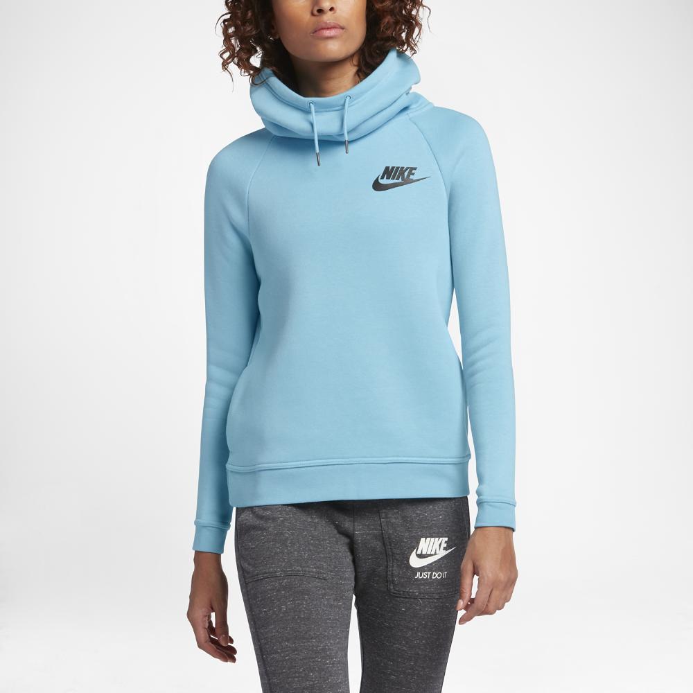 Nike Sportswear Rally Funnel Neck Women S Sweatshirt Size Medium Blue Clearance Sale Tolstovka Modeli Trikotazh [ 1000 x 1000 Pixel ]