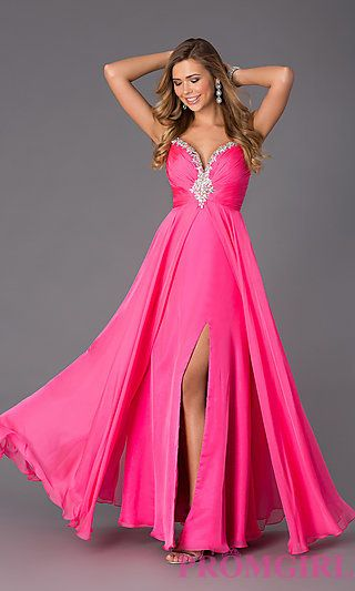 Long Chiffon Formal Dress by Alyce at PromGirl.com