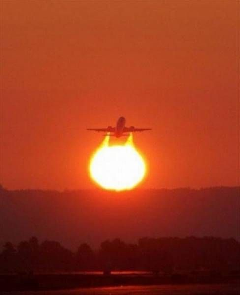 Flying out of the Sun !!!