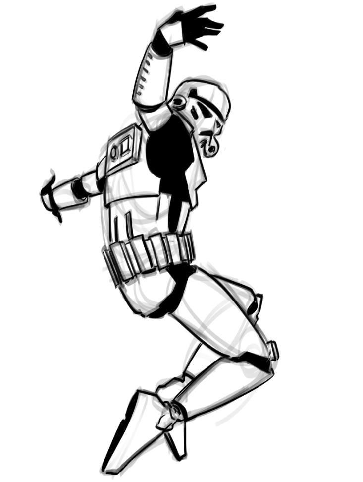 Breakdancing Stormtrooper Art and Video Stormtrooper art