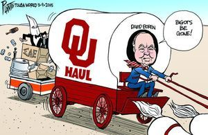 Bruce Plante Cartoon: OU President David Boren and the frat house - Opinionhomepage1 - TulsaWorld
