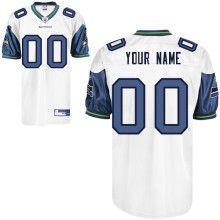 6d29e577ff2 Reebok Seattle Seahawks Customized NFL Jersey in White  60