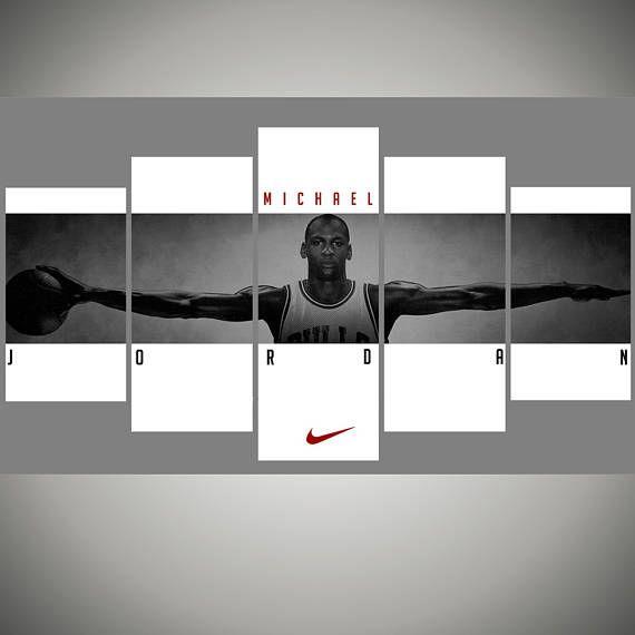 f72e589a3c86 Michael Jordan Chicago bulls - Basketball wall art Home Decor - Michael  Jordan wings - NBA poster Sports Art Print boyfriend gift 44 by…