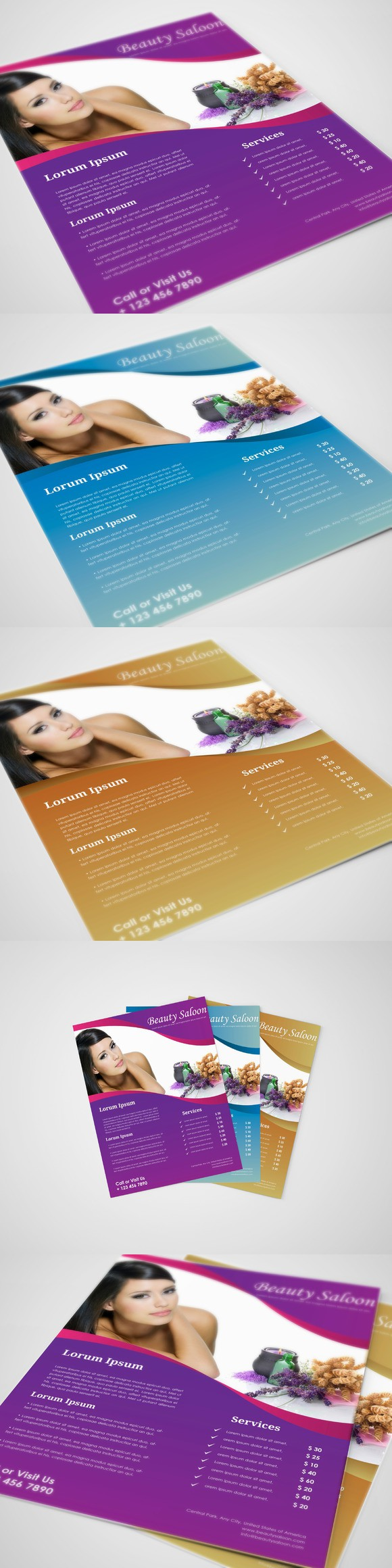 beauty salon flyer template pinterest flyer template template