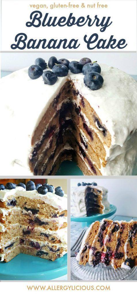 Unglaublich dekadenter, veganer, glutenfreier Blaubeer-Bananen-Kuchen wird Ihre Freunde beeindrucken ... -